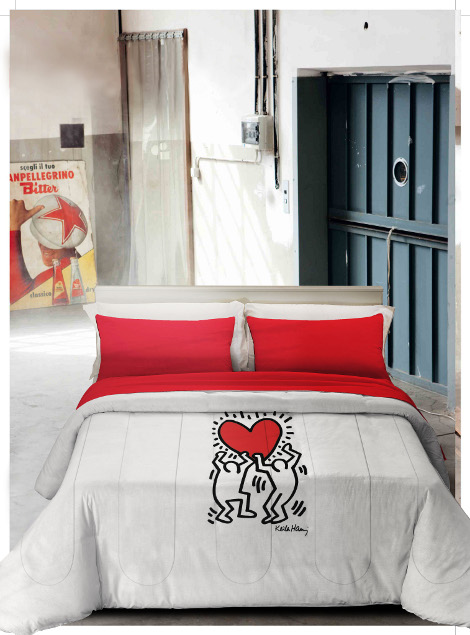 Lenzuola Matrimoniali Keith Haring.Copripiumino Matrimoniale Keith Haring Oostwand