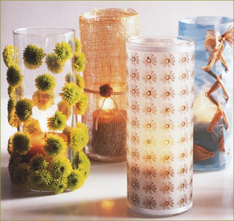 Come creare dei bei vasetti per i fiori e porta candele - Porta tv fai da te ...