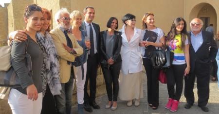Cast 'Un posto al Sole' con il sindaco Luigi de Magistris - Foto di Giovanna Manna