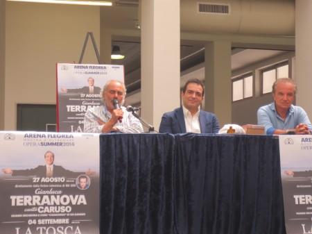 tenore Gianluca Terranova, Rino Manna e Luciano Paulillo del Teatro Palapartenope  (foto di Giovanna Manna)