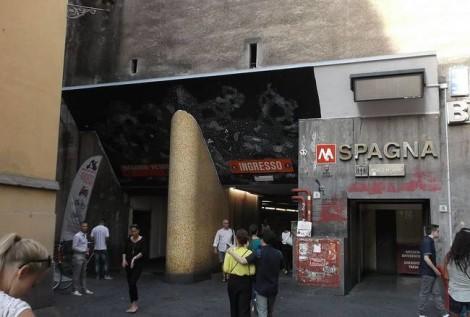 crollo soffitto metro piazza di spagna