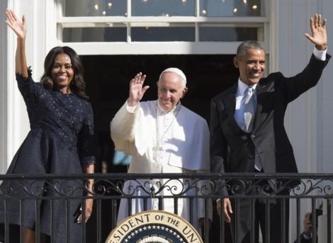 papa francesco e famiglia obama