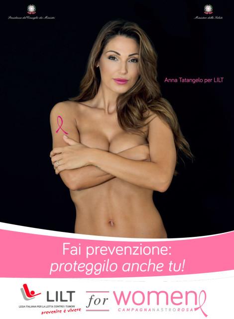 anna tatangelo prevenzione seno