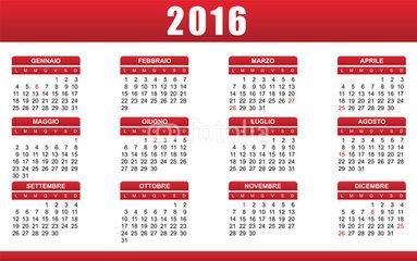 calendario 2016 festivita e ponti