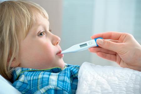 bambini con febbre alta