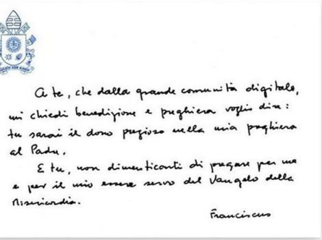 messaggio papa francesco
