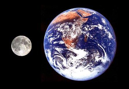 terra e luna madre e figlia