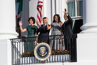 renzi e moglie dagli obama