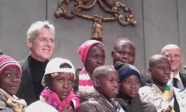 baglioni e bambini di bangui