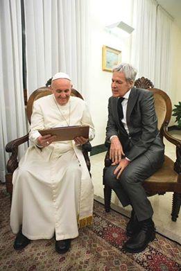 claudio baglioni e papa francesco
