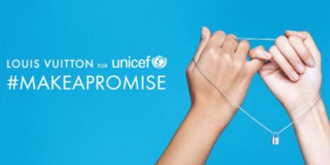 louis vuitton #MAKEPROMISE per i diritti dei bambini insieme a unicef