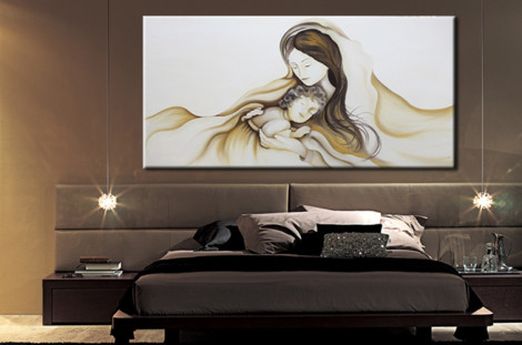 Abbinamento quadri casa tutto per lei - Quadri moderni per camera da letto ...
